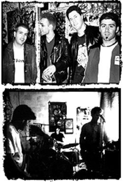 Holy Terrors happy days (at top, from left): Will Trev, Sam Fogarino, Rob Elba, and Dan Hosker; Cell 63 of long ago (above) included Will Trev, George Gratiquena, and Rob Coe