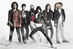 Hole's opening act, Foxy Shazam, is part rock 'n' roll band, part circus act.