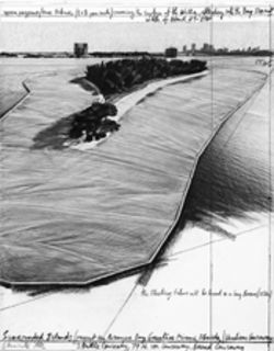 Sketch for Surrounded Islands: Works like this finance Christo's projects