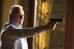 Anthony Hopkins takes a shot