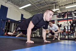 Garrett trains at American Top Team in Weston.