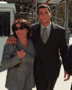 Mama's boy: Paciello and his mother before he disappeared somewhere deep inside the federal system