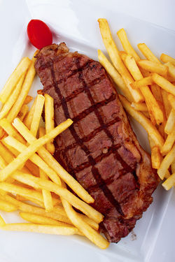La Cigale's steak frites