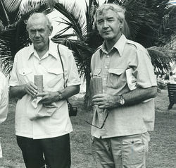 Graham Greene (left) and Bernard Diederich
