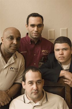 Miami&#039;s chessmen (clockwise from left): Alberto Hernandez, Rodelay Medina, Charles Galofre, and Renier Gonzalez