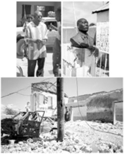 Haiti in revolt (clockwise top left): Butteur Metayer 