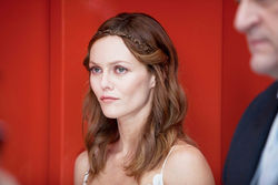 Vanessa Paradis looks outright bored.