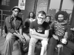 TV on the Radio: Tunde Adebimpe (left), Jaleel Bunton, David Andrew Sitek, Gerard Smith, and Kyp Malone