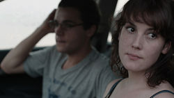 Christopher Abbott and Melanie Lynskey in Hello I Must Be Going.