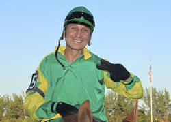 "Jockey William ""Bill"" Ives returned to racing three years ago after a 17-year absence."