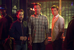 Charlie Day, Jason Sudeikis, and Jason Bateman in Horrible Bosses.