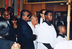 Jarmin and Viola at Ronald&#039;s funeral in Fort Lauderdale.