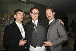 Robert Ben Garant and Thomas Lennon from Reno 911! joined The Office's Rainn Wilson (center) for the fundraiser near Beverly Hills.