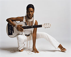 India.Arie likes  to mix music  and yoga