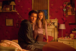 Clive Owen and Ella Purnell in Intruders.