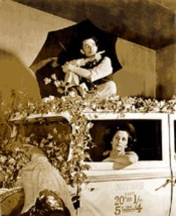 Dal and Gala in the 1939 Rainy Taxi