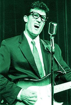 John Mueller belts out a little ditty as Buddy Holly