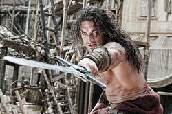 Jason Momoa as Conan the Barbarian.