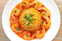 Jimmy'z shrimp mofongo