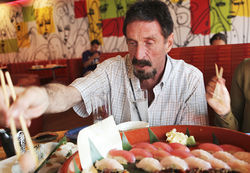 "McAfee philosophizes over sushi: ""Life is infinite. You can't have rules for infinity."""