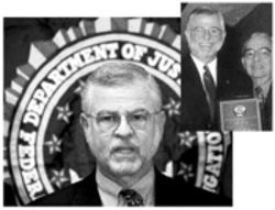 In 1999 the FBI's Hector Pesquera and Camilo Padreda (inset, right) posed for the in-house magazine of CAMACOL, the Latin chamber of commerce, which honored the FBI for its war on drugs