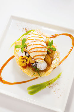 "Fuji apple tart. View more photos: ""Closer Look: Katsuya by Starck."""