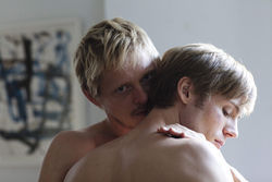 Thure Lindhardt and Zachary Booth in Keep the Lights On. 