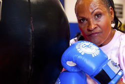 Khalilah trains at South Florida Boxing Gym on Miami Beach when she gets off work.