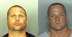 Paul Brandreth (left) and Tom Lehmann were indicted on drug trafficking and murder charges. They were arrested in Miami Beach in September 2002.