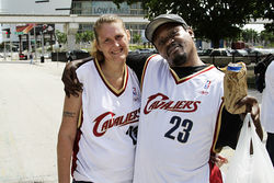 Husband and wife Clarence Jones and Lisa White wanted matching home-game jerseys.