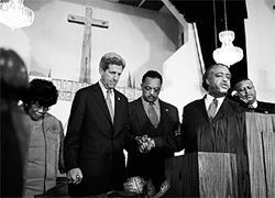 The IRS investigated Smith after politics and religion mixed during the 2004 presidential election: Sen. John Kerry stumped at Smith's pulpit, flanked by retired Rep. Carrie Meek and Revs. Jesse Jackson and Al Sharpton.