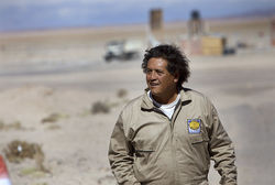 Marcelo Castro leads construction on a $6 million lithium plant in Bolivia.