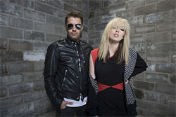 The Ting Tings got together in an abandoned mill.