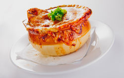 LouLou's French onion soup. See a photo slide show of LouLou.
