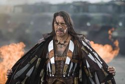 Danny Trejo as the title character in Robert Rodriguez's Machete.
