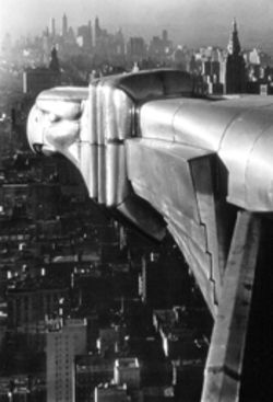 The Chrysler Building in 1930 through the lens of  Margaret Bourke-White