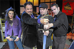 Sofia Citarella, Paul Tei, Erik Fabregat, and Scott Genn in Broadsword