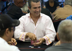 The casino beats to a steady bass line of shuffling plastic chips, loudmouth players, and shrill slot machines.