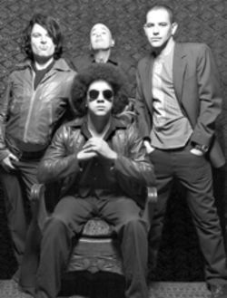 The Nervous Return, complete with Afro: Jason Muller (left), Greg  Gordon (seated), Shane Gallagher, and Anthony Crouse