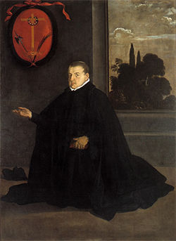 This version of Vel&amp;Atilde;&amp;iexcl;zquez&#039;s El Padre Cristobal Suarez de Ribera hangs in the Museo de Bellas Artes in Seville, Spain