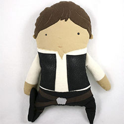 A Han Solo figure by Miami- and London-based Danny Brito.