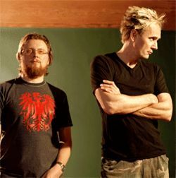 Rhys Fulber (left) and Bill Leeb are the Godolphin Arabians of industrial music