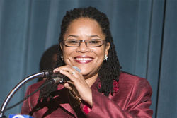 Michelle Spence-Jones, the indicted commissioner who takes a suspendin' and keeps on commissionin'.