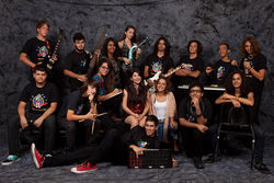 The Miami Beach Senior High Rock Ensemble, class of 2010.