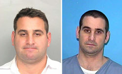 Michael Ragusa (left) in a 2007 mug shot and in a more recent photo.