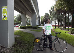 Transit Miami blogger Tony Garcia and other cyclists rarely use the M-Path.
