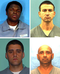 Clockwise from top left: Antonio Andrew, a car thief; Rosendo Betancourt, who helped police lay the trap; Roger Gonzalez Sr., the group's ringleader; and his son, Roger Gonzalez Jr., the rai