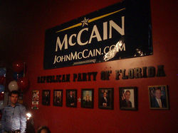 McCain&#039;s headquarters in Doral.