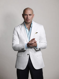 Pitbull says, &quot;&amp;iexcl;Prospero a&amp;ntilde;o nuevo! &amp;iexcl;Dale!&quot;
