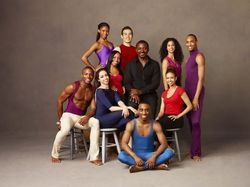 Ailey artistic director Robert Battle (center) and the dancers he invited to join the company for his inaugural season.